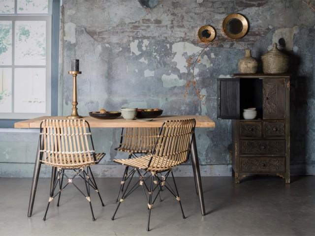 Des chaises en rotin pour réchauffer un intérieur brut - Le rotin dans la maison