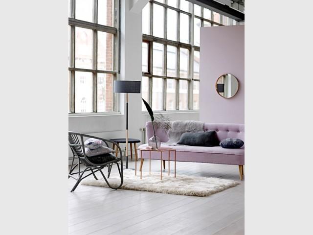 Un fauteuil en rotin noir pour une insertion discrète dans un décor contemporain - Le rotin dans la maison