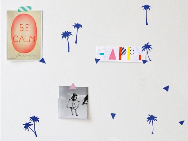 Des stickers palmiers pour une chambre tropicale - La tendance Floride envahit les intérieurs