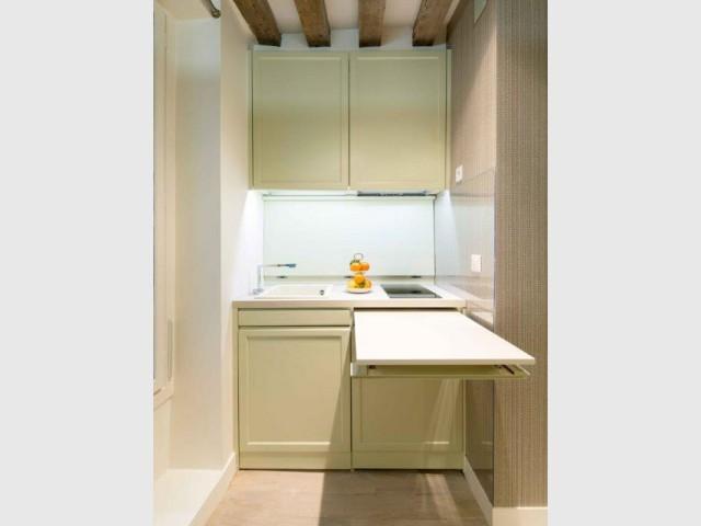 1 coin cuisine dans 1 studio 10 kitchenettes astucieuses - Table de cuisine pour studio ...