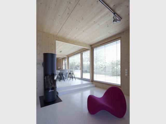 Une isolation du sol performante - Une maison passive alliant inspiration japonaise et performances énergétiques