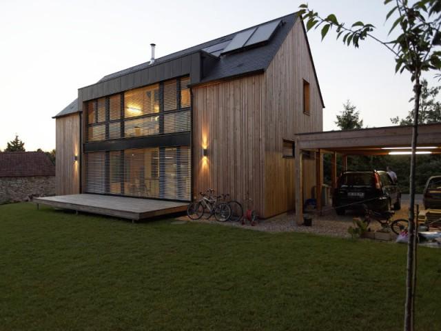Un terrain difficile pour la construction d'une maison passive - Une maison passive alliant inspiration japonaise et performances énergétiques