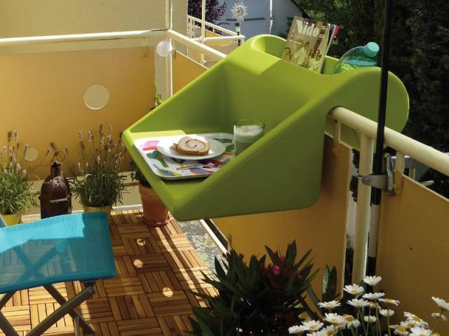 Une table tout en un pour un balcon malin - Solutions pour un mini balcon