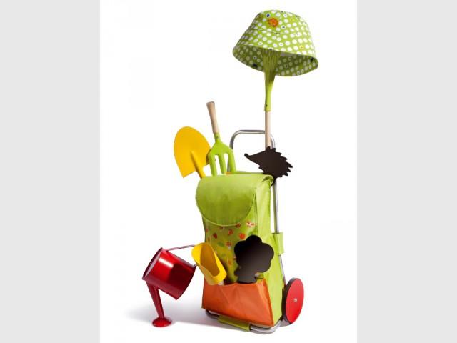 Le chariot d'outils de jardin pour jardiner super malin  - Le jardinage pour les petits