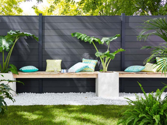 une clot re esth tique pour d limiter mon jardin. Black Bedroom Furniture Sets. Home Design Ideas