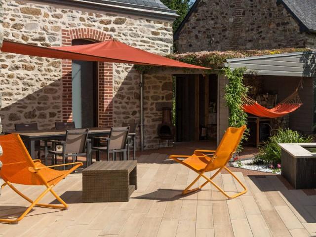 Une terrasse en béton imitation bois facile à entretenir - Une terrasse en béton pour un effet bois
