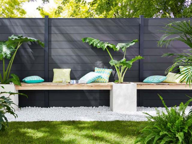 Un jardin delimité pour plus d'intimité