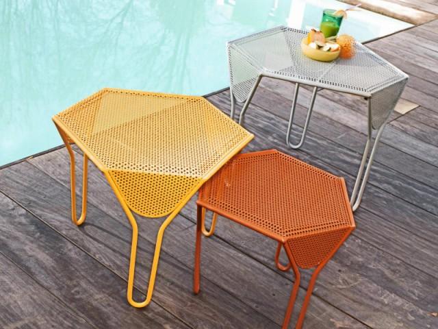 Un mobilier de jardin tout en métal pour rappeler le style bistrot - Les tendances Outdoor 2016