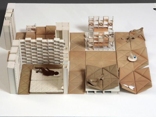 Maquette d'aménagement intérieur N° 4, Pierre Paulin 1970
