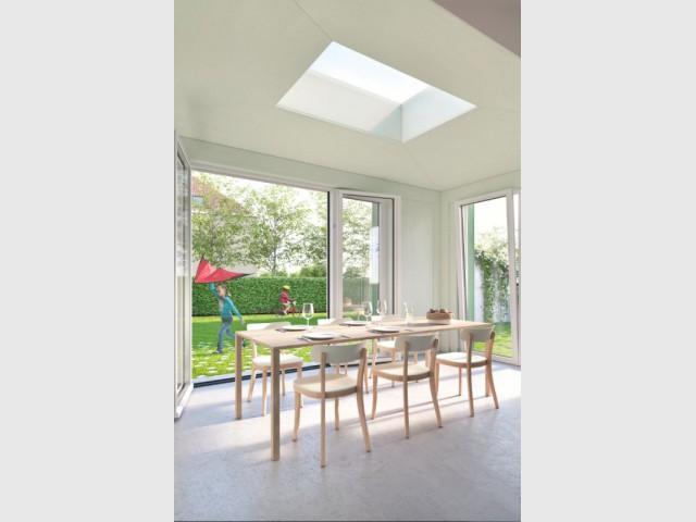 Une extension baignée de lumière - Maison Renov Active à Bruxelles par Velux