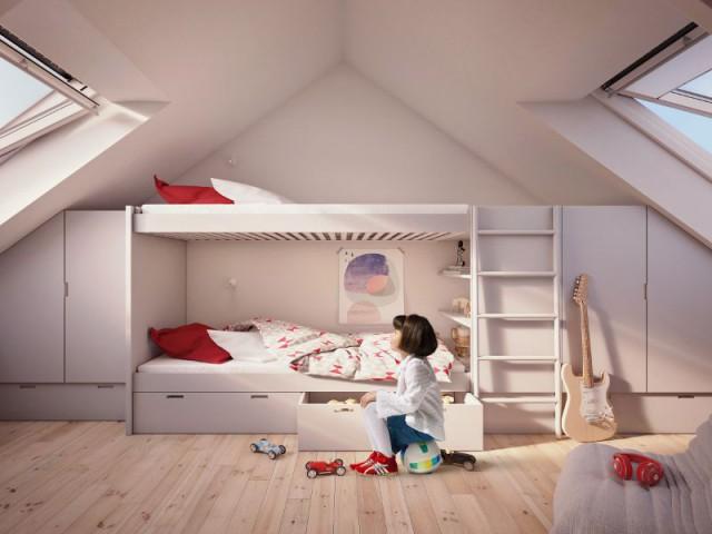 Après : un étage dédié aux enfants - Maison Renov Active à Bruxelles par Velux