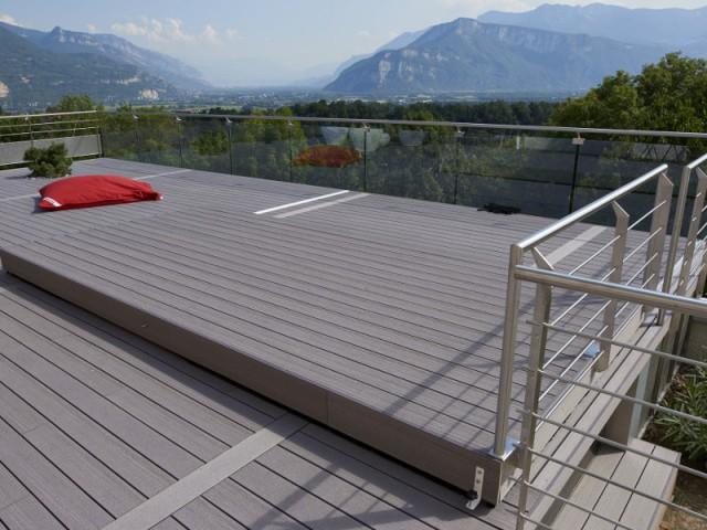 Une terrasse coulissante