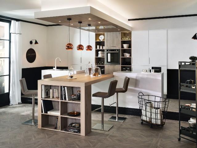 Un îlot symétrique pour une cuisine élégante - Un îlot original pour une cuisine conviviale