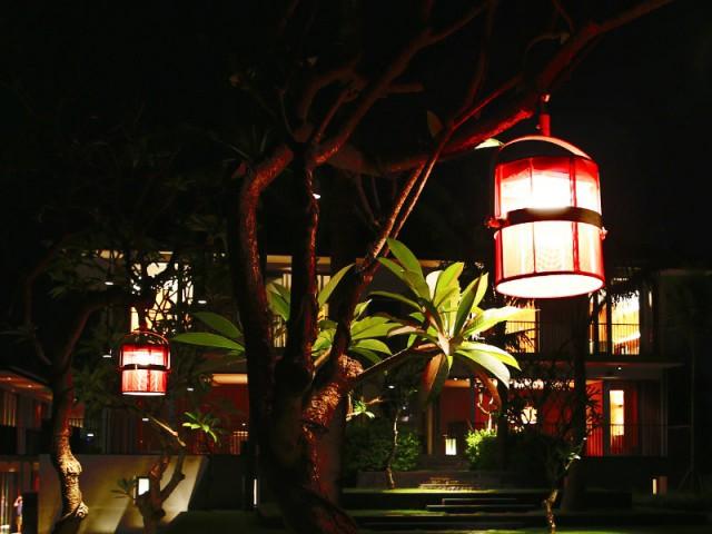 Des luminaires suspendus pour un jardin fonctionnel - Un jardin bien éclairé