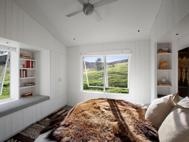 Une chambre pastorale à l'ambiance traditionnelle - Un vieux ranch américain transformé en maison écologique