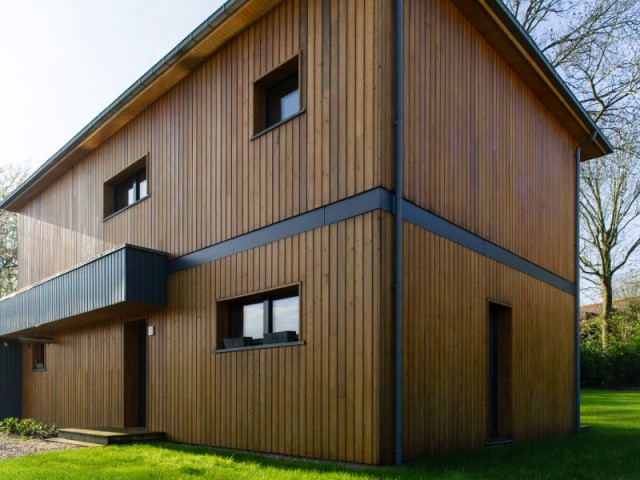 Des débuts difficiles pour la maison passive - Une maison passive en bois bâtie dans la forêt