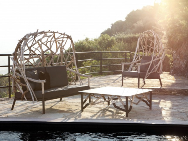 Une bergère deux places pour une ambiance nature - Dix fauteuils pour profiter de son jardin à deux