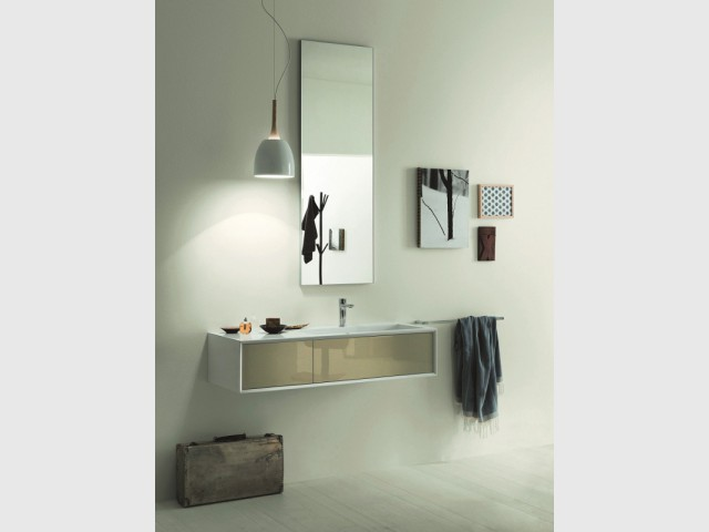 Petits espaces 10 meubles sous vasque pour une petite salle de bains - Meuble vasque salle de bain cedeo ...