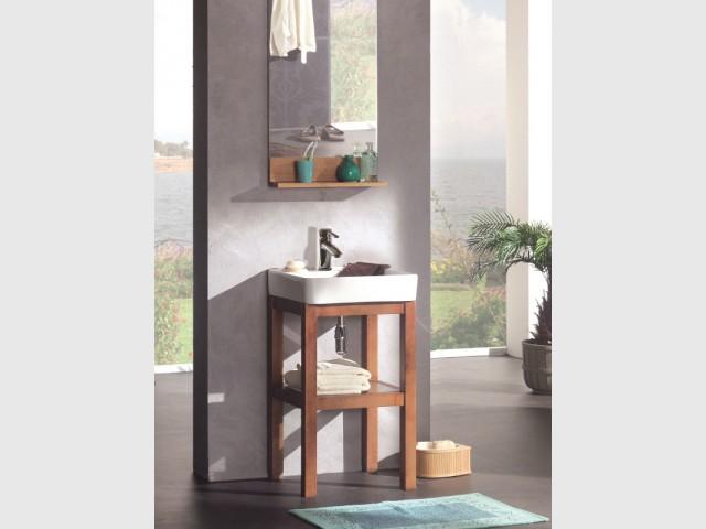 Un tabouret sous vasque pour une salle de bains ingénieuse - Dix petits meubles sous vasque