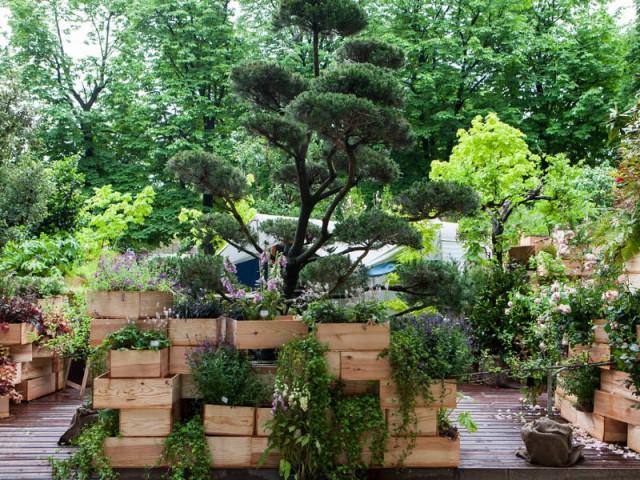 Gardens in a box, box in a garden, par La Caravane de Nantes