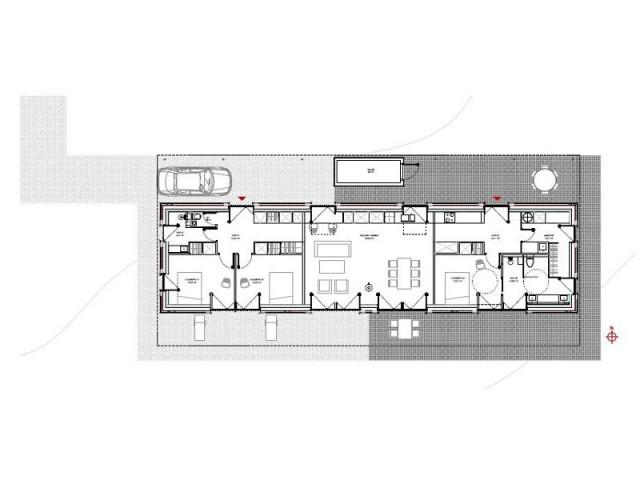 Un plan compact et simple pour une maison originale - Maison Saint-Sauveur, agence Laurence Chéret