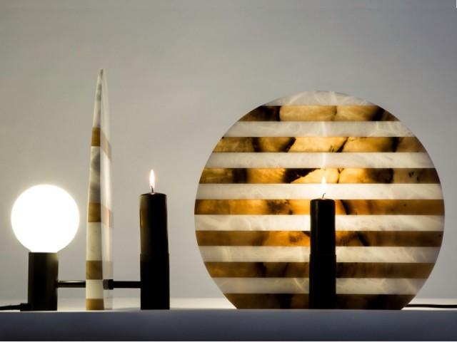 Alabaster Lamp by Cooperativa Artieri & Davide Aquini