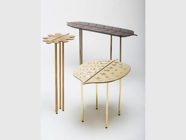 Set de trois tables by Matteo Cibic & Bottega Gadda