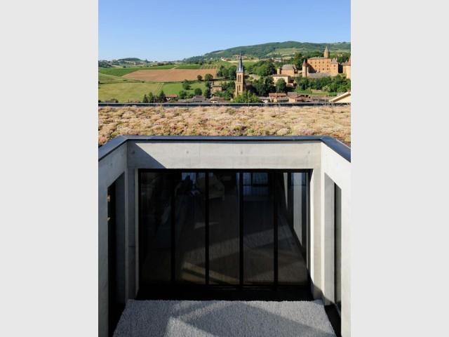 Un volet développement durable ancré dans la maison  - Une maison en béton grimpe au cœur des vignes