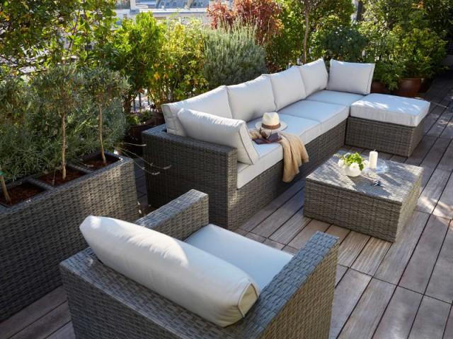 Mobilier outdoor : 10 salons de jardin en résine tressée
