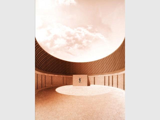 Le Musée Yves Saint Laurent ouvrira ses portes en 2017 - Musée Yves Saint Laurent à Marrakech, façade est, entrée du musée
