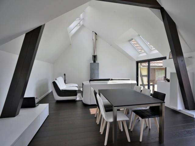 Une pièce à vivre très lumineuse - Une grange alsacienne rénovée