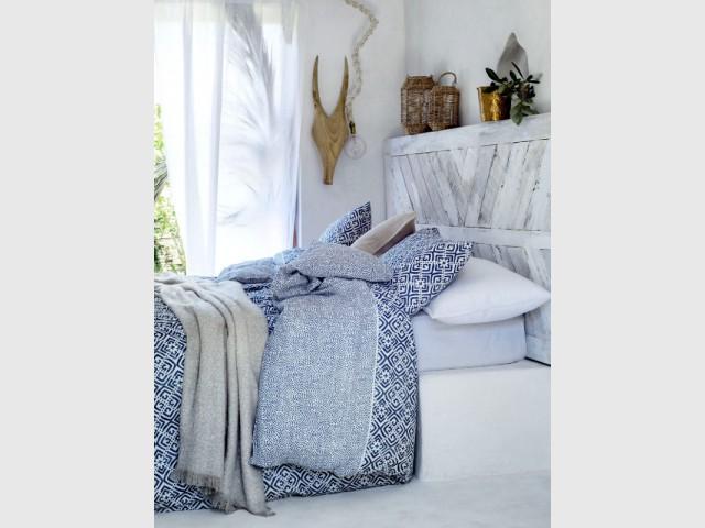 Une tête de lit en bois de récup'