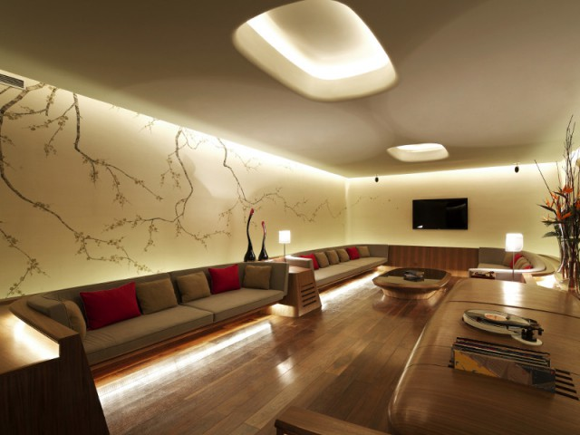 Différentes sources de lumière pour une ambiance futuriste - The Swatch Art Peace Hôtel