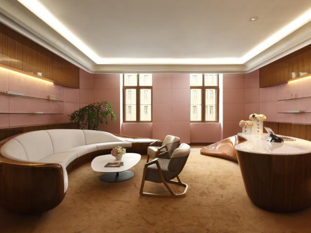 Des meubles en forme de coquillage pour un salon tout en légèreté  - The Swatch Art Peace Hôtel