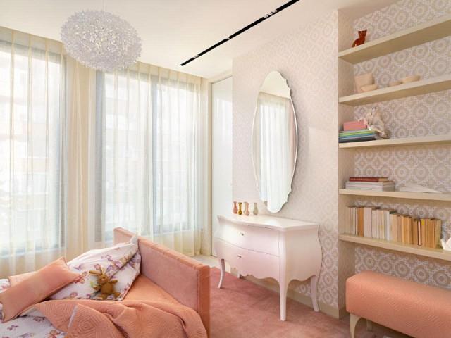 Une chambre tout en douceur dans un penthouse