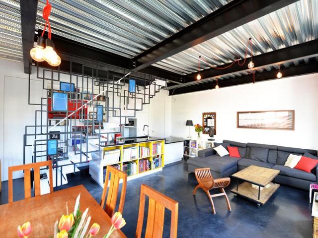 Un intérieur métallique pour un style industriel