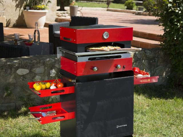 Une plancha deux-en-un pour cuisiner des pizzas en famille - Dix barbecues et planchas pour cuisiner au jardin