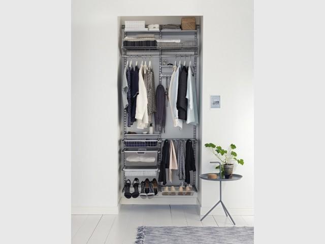 Un dressing tout en acier pour un effet aérien - Un dressing pratique et esthétique.