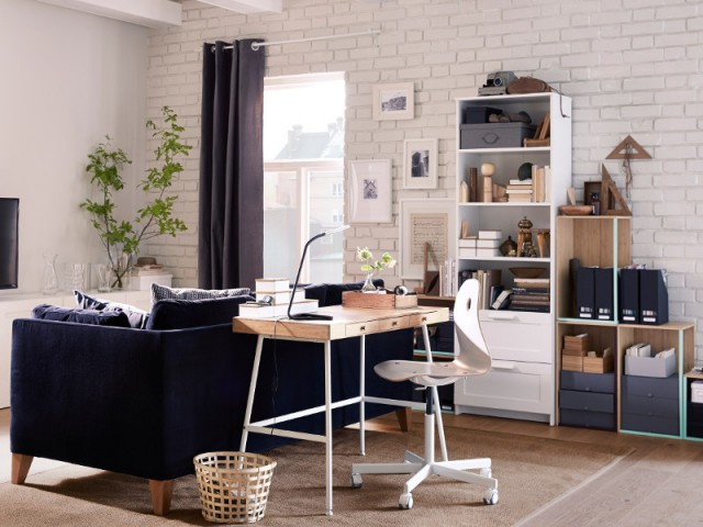 am nager un bureau dans un petit espace 20 id es fut es. Black Bedroom Furniture Sets. Home Design Ideas