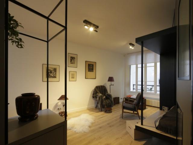 Un appartement parisien transformé en cocon chaleureux - Jeux de niveaux pour un studio parisien