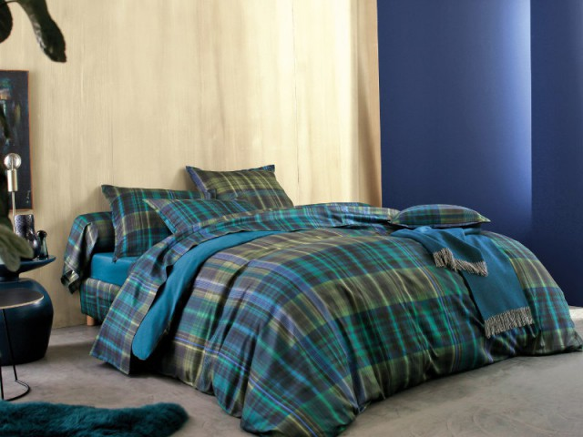 Parure de lit Borneo bleu paon