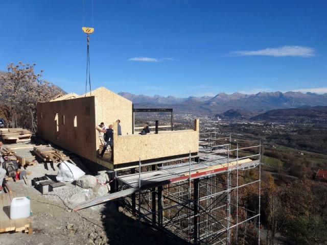 Une ossature bois pour une maison avec vue imprenable - Maison sur pilotis