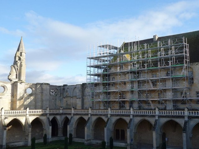 Travaux de restauration et de valorisation de l'abbaye de Royaumont dans le Val d'Oise