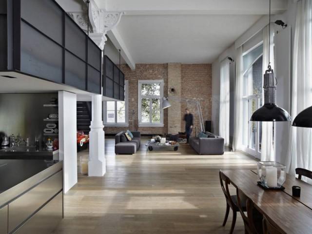 Un volume typique des lofts new-yorkais