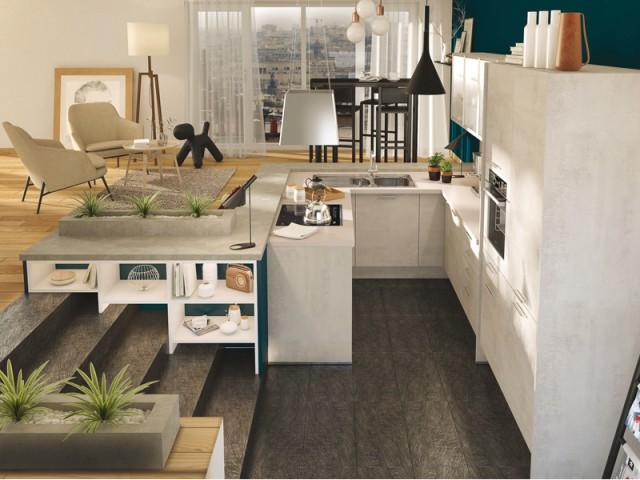 Une cuisine encastrée dans le sol