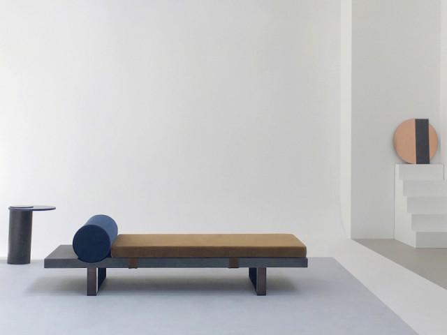 Une méridienne tout en rondeur pour un repos organique - Une collection unique en pierre de lave.