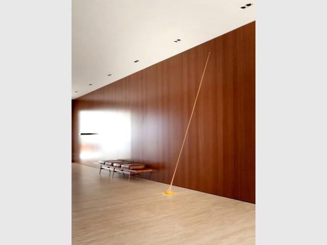 Des couloirs aménagés comme des galeries d'art