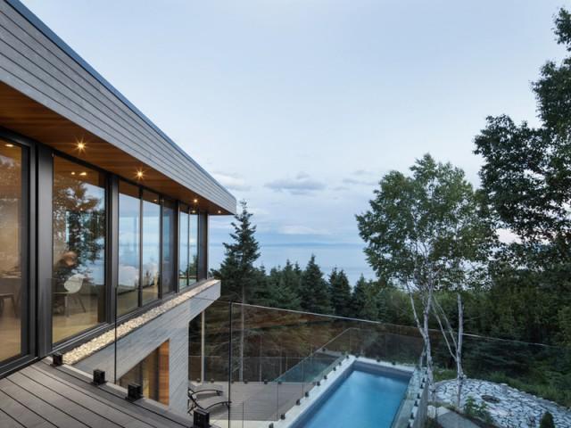 Une maison comme une fenêtre ouverte sur le fleuve