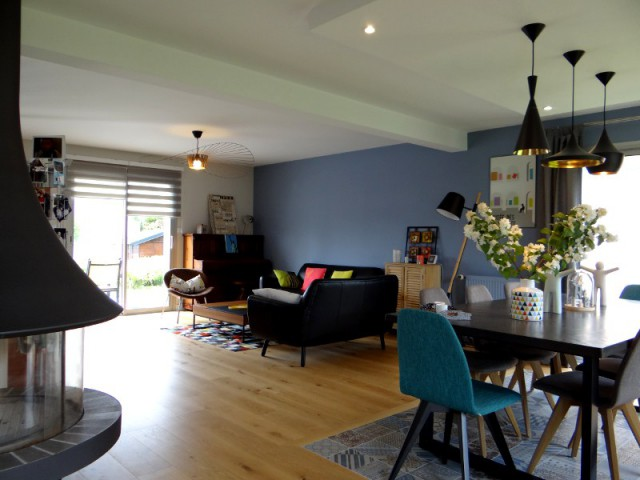am nagement int rieur un salon vintage mi bois mi acier. Black Bedroom Furniture Sets. Home Design Ideas
