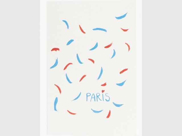 Carte de correspondance aux couleurs de la France